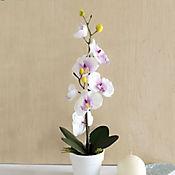 Planta Artificial Orquidea Maceta 14 x 47 cm