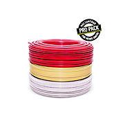 Propack 3 Rollos de Alambre #12 X 100m Blanco, Rojo y Amarillo