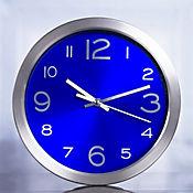 Reloj Metal Fondo Azul 30 cm