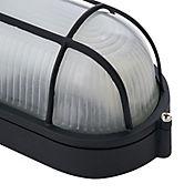 Aplique Ovalado 1 luz E27 Blanco Negro Aluminio