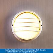 Aplique Redondo Pared 18Cm 1 luz E27 Blanco Aluminio