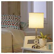 Lámpara de Mesa Firenze con 1 Luz Rosca E27 Beige - Niquel