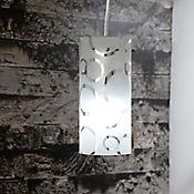 Lámpara Colgante Burgos Memphis 1 Luz Rosca E27 Cromo - Vidrio