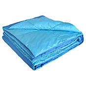Plumón Bicolor Sencillo 165x220 cm Azul - Turquesa