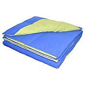 Plumón Bicolor Sencillo 165x220 cm Azul - Verde