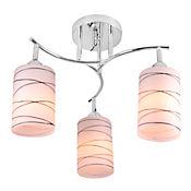 Lámpara para Techo Lugo 3 Luces Rosca E27 Vidrio - Cromo