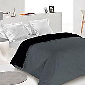 Duvet Bicolor Doble 220x225 cm Gris - Negro