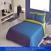 Duvet Bicolor Sencillo 170x225 cm Azul - Verde