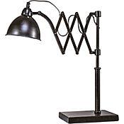 Lámpara de mesa 1 Luz e14 extensible negro
