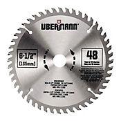 Disco Madera 6-1/2 185mm 48 Dientes Ubermann Ub165a48