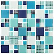 Mosaico Cerámico Acuarius 30x30 Centímetros Azul