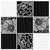 Mosaico Cerámico Perla 23.7x23.7 Centímetros Negro