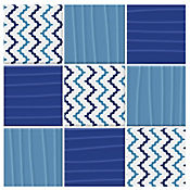 Mosaico Cerámico Oleaje Azul 23.7x23.7 Centímetros