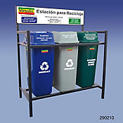 Punto Ecológico 3 Papeleras 44 Lt Base Metal