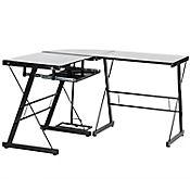 Centro de Trabajo Vidrio Negro 120x50x73cm