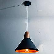Lámpara Colgante Isis 1 Luz Rosca E27 60w Madera Negra