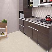Base Cerámica Decorada para Baño y Cocina Aurea Ondas 30x45 Centímetros Beige