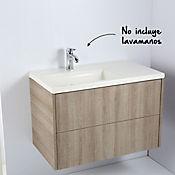 Mueble Scattola 80 cm Olmo sin lavamanos