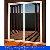 Puerta ventana  1.8 x 2.1 m corrediza con mosquitero vidrio templado 4mm