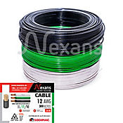 Propack 3 Rollos de Cable #12 X 100m Blanco, Negro y Verde