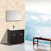 Mueble 80 cm con lavamanos Abrantes Wengue
