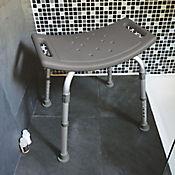 Silla portátil para ducha sin espaldar en aluminio