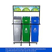 Punto Ecologico 55 Lt Verde-Gris-Azul