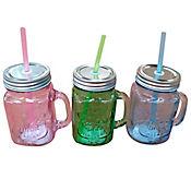 Mug Tipo Jarro 450ml Mason Jar Color