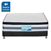 Combo Golden Royal Queen + Base Cama Nova Negra 160x190cm