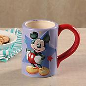 Mug Mickey Realce Con Caja De Regalo.