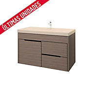 Kit lavamanos Bari bone con mueble Tiziano Rh 79x48 cm Serena