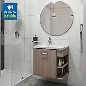 Kit lavamanos Venecia blanco con mueble Gaudi 63x48 cm Capuccino