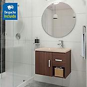 Kit lavamanos Parma bone con mueble Monet ele 63x48 cm Nuez