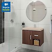 Kit lavamanos Bari bone con mueble Monet ele 63x48 cm Nuez