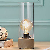 Lámpara de Mesa Dominga 1 Luz E27 Cemento Vidrio