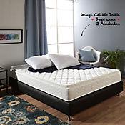 Colchón Basic Pillow Doble 140x190cm + Basecama + Almohadas