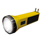 Linterna Hibrida Led Recargable Electrica Y Solar