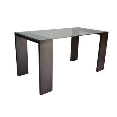 Mesa para Comedor Milán 76x120x79 cm en Vidrio templado y Estructura ...