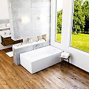 Tina Qatar plus 180x100 cm con cascada y teleducha - Blanco