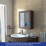 Gabinete Para Bano Luma 1 Puerta Con Espejo 52x47x14 6 Cm Amareto
