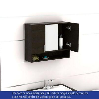Gabinete de ba o espejo spa weng 53x63x2 - Fijaciones para espejos ...