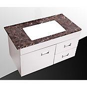 Mueble Isla Madera Blanca para Lavamanos 88x45.5x48.5 cm