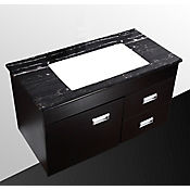 Mueble Isla Madera Negra para Lavamanos 88x45.5x48.5 cm