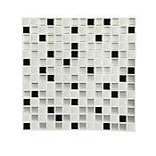 Mosaico easyquick dados plata 25x25cm 6 unidades
