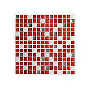 Mosaico easyquick dados rojo25x25 cm 6 unidades