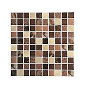 Mosaico easyquick cosmos marrón 25x25cm 6 unidades