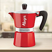 Cafetera 6 Tazas Roja Allegra