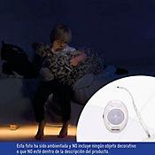 Sensor Movimiento Doble Con Luz LED 200 Lúmenes 3w Luz Cálida Blanco