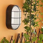 Aplique Pared LED 550 Lúmenes 6w Luz Fría Rejilla Blanco Y Negro