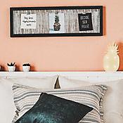 Cuadro Decorativo 74x24 cm Con Ganchos Para Fotos